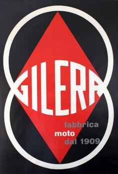 Original Vintage Posters -> Advertising Posters -> Gilera Fabrica Moto Motorcycles - AntikBar