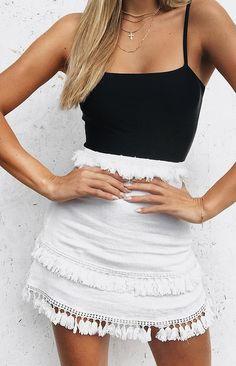 Walk Away Skirt White