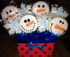 Christmas Cookies Cookie Bouquet Santa by CelebratewithCookies
