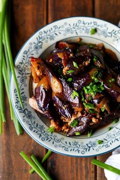 Chinese eggplants with ground pork