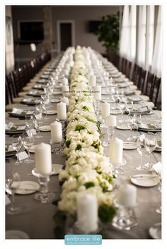 Table Length Peony and Rose Centerpiece