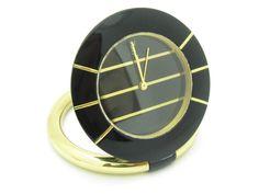 Vintage YSL Yves Saint Laurent Table Top Watch Black Enamel One of a Kind Watch