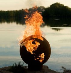 The Third Rock Fire Pit - Outside, the world is burning!