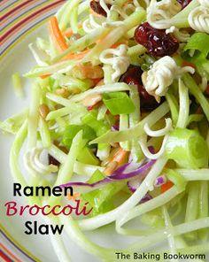 The Baking Bookworm: Ramen Broccoli Slaw