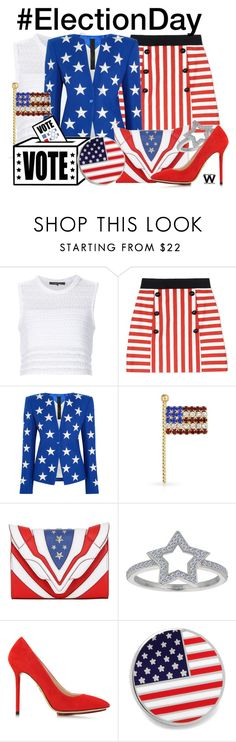 """""""#ElectionDay"""" by wearwhatyouwatch ❤ liked on Polyvore featuring Thakoon, Dolce&Gabbana, Gareth Pugh, Bling Jewelry, Elena Ghisellini, Charlotte Olympia and Cufflinks, Inc."""