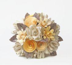 Paper flower bouquet seed embedded planteble by Funkyflowergirl