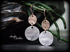 Böhmische antik Kupfer Ohrringe