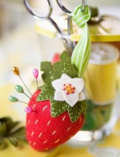 strawberry pin cushion