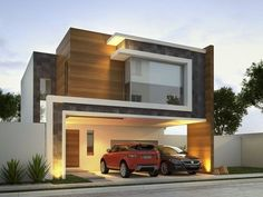 The modern home exterior design is the most popular among new house owners and those who intend to become the owner of a modern house. Residential Architecture, Contemporary Architecture, Architecture Design, Amazing Architecture, Design Architect, Facade Design, Exterior Design, Villa Design, Modern Exterior