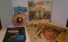 Elvis Presley Newspapers And Magazines Original From Death And 2 Records 1970