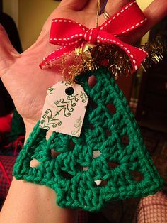 Árvore Crochet Christmas Ornament