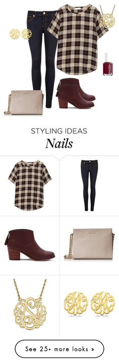 """THANKSGIVING DINNER"" by sadiepatton on Polyvore featuring Ted Baker, Equipment, Essie, TOMS, Allurez, Kate Spade and 5setsofthanksgiving"