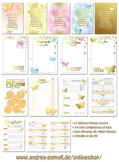 Printable Planner Inserts XXL Set by Andrea Gomoll