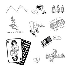 Twin Peaks tattoo sheet