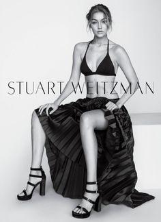 Gigi Hadid stars in Stuart Weitzman's spring-summer 2016 campaign P I N T E R E S T | @tmnowotny