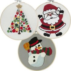 Craftways® Christmas Circles Set of 3 Punch Needle Kit Was: $74.97    Now: $59.97