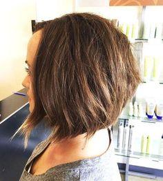 layered brunette bob