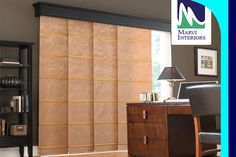 #Panel #track #blinds, also known as #sliding window panels or panel tracks, Marvi Interiors collections are perfect for covering large windows and sliding doors. www.marviinteriors.com