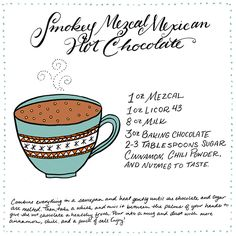 Cocktail Fridays: A Smokey Mezcal Hot Chocolate | Illustration: Shauna ...