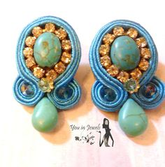 Soutache Earrings por YouinJewels en Etsy