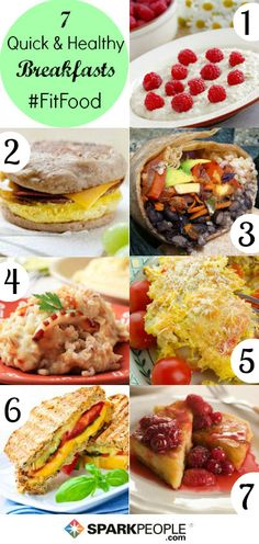 7-Day Meal Plan: Quick & Healthy Breakfasts in Minutes! | via @SparkPeople #recipe #nutrition #food