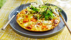 Corn, goat's cheese and sweet potato frittata: A one-dish wonder to top your must-cook hits list.