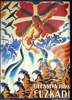 Ofensiva para Euzkadi :: posters from the spanish civil war / a set by ed ed #Spain #war #poster