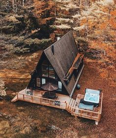 A Frame House Plans, A Frame Cabin, Tiny House Cabin, Cabin Homes, Log Homes, Tiny House Movement, Cabins And Cottages, Cabin Plans, Outdoor Survival