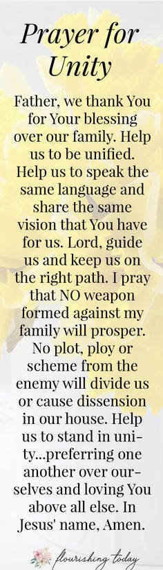 Do you pray specific prayers for your family? Praying for strength and unity between your children can help your family to flourish like never before! Here are 5 prayers to help your family to grow and flourish. Prayer Verses, Bible Prayers, Faith Prayer, Bible Verses, Bible Quotes, Scriptures, Faith Quotes, Spiritual Prayers, Marriage Prayer