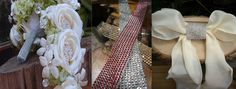 Diamond Rhinestone Ribbon Wrap, Adhesive Diamonds and Diamond Trim