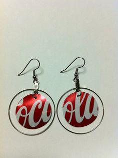 diy earings coke earrings…Christmas present anyone? diy earings coke earrings…Christmas present anyone? Wire Jewelry, Jewelry Crafts, Jewellery Box, Jewellery Storage, Jewlery, Recycled Jewelry, Handmade Jewelry, Aluminum Can Crafts, Aluminum Cans