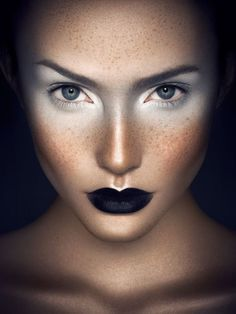 Black and white make-up.... Futuristic and great for Queen Levana