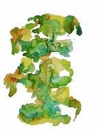 """""""Bonsai"""" abstract watercolor"""