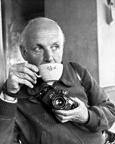 Henri Cartier-Bresson by Ara Güler, 1964.