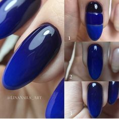 blue ombre nail art step by step Summer Acrylic Nails, Best Acrylic Nails, Acrylic Nail Designs, Nail Art Designs, Fancy Nails, Diy Nails, Pretty Nails, Blue Ombre Nails, Nails Inspiration