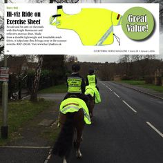 Our Hi-Viz Exercise Sheet has been labelled great value in this months Everything Horse UK Magazine - have a read it's online now! http://bit.ly/1R8JytO
