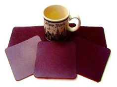 Coasters Leather Square 6 Pcs Chocolate Brown . $9.95. This lot: 6 pieces square Chocolate Brown Genuine Leather Coasters as shown. Natural grain underside keeps them from sliding.. Dimensions: Precision die cut 3 1/2 x 3 1/2 inches.. Our shop cuts lots of fine quality belts and leather specialties; we cut some leather coasters from our Grade A Domestically Tanned belt leather hides, and they look great! Nothing beats the feel of real leather... Beautiful Genui...