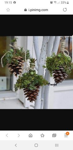 Source by margretdohr Homemade Christmas, Rustic Christmas, Simple Christmas, Winter Christmas, Christmas Planters, Outdoor Christmas, Christmas Wreaths, Christmas Ornaments, Christmas Projects