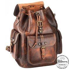 """Кожаный рюкзак """"Патриот"""" (коричневый эксклюзив) - 1"""