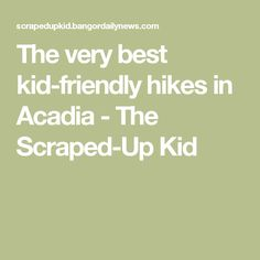 The very best kid-friendly hikes in Acadia - The Scraped-Up Kid