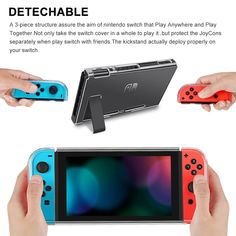 Switch Case for Nintendo, Findway Nintendo Switch Cover Case Joy Con - TPU Crystal Clear Transparent Shock Absorption Technology Bumper Soft Protective -Nintendo Switch Accessories Nintendo Switch 2017, Nintendo Switch Accessories, Used Video Games, Christmas Games, Switch Covers, Protective Cases, Videogames, Console, Image Link