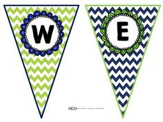 This lime and navy welcome banner will be perfect for a blue and green themed classroom. Enjoy!Copyright: Kristen Taylor (2015)