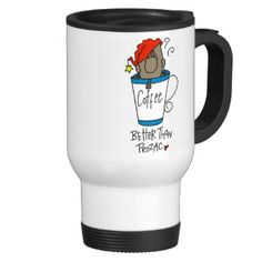 """If coffee is your staple you'll get a kick out of this cute stick figure coffee bean design featuring a coffee bean in a cup of coffee and text that reads """"Coffee Better Than Prozac""""! Coffee humor T-shirts, mugs, mousepads, stickers, magnets, keychains, and other items that make great gifts for coffee lovers and coffee addicts! #stick #figures #coffee #coffee #bean #customizedfunny #coffee #funny #coffee #mugs #need #coffee #love #coffee #coffee #lover #java #cute #coffee #unique #coffee ..."""