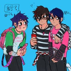 """caiwey 😳 @ owl city nightcore on Twitter: """"mishima has a crush and wants to join the emo gang but hes a poser X[[[[!!… """""""