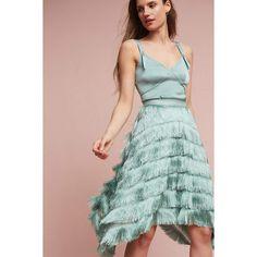 Eva Franco Fringe-Point Skirt ($148) ❤ liked on Polyvore featuring skirts, navy, navy skirts, fringe skirt, navy blue skirts, eva franco and eva franco skirt