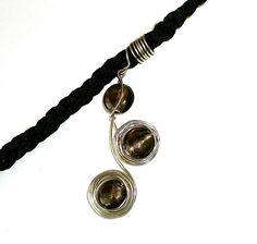 Dreadlock Jewelry - Black and Silver Swirl Loc Jewel on Etsy, $14.00