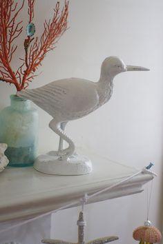 Home Decor Cast Iron Sandpiper Shore Bird - PICK YOUR COLOR.