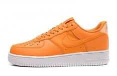 sale retailer f7b7d 883a8 Nike Air Force 1  07 Orange Men s Women s Sneakers Shoes AO2132-801