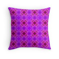 """""""Seamless abstract and geometrical texture """"east pattern"""" 2"""" Throw Pillows by floraaplus 