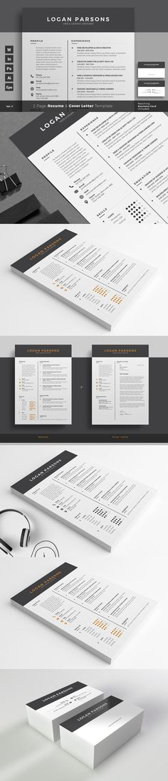 Professional Resume CV Template. Business Infographic